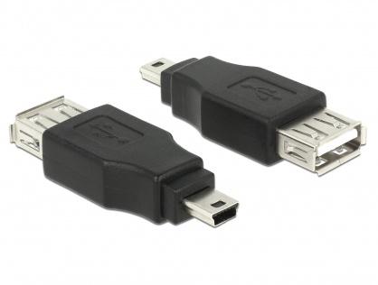 Adaptor mini USB la USB 2.0 T-M OTG, Delock 65399