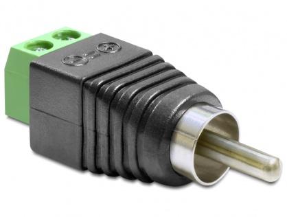 Adaptor RCA Tata la Bloc Terminal 2 pini, Delock 65417