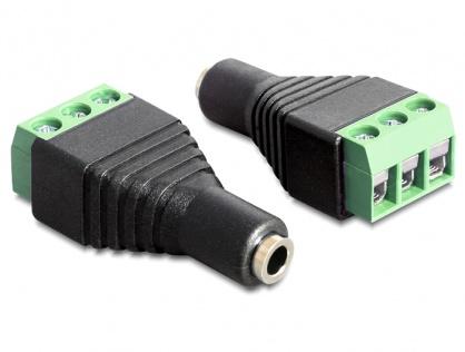 Adaptor jack stereo 3.5mm mama la bloc terminal 3 pini, Delock 65455