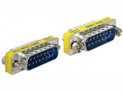 Adaptor Serial 15 pini T-T, Delock 65479