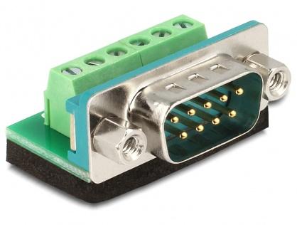 Adaptor Sub-D 9 pini tata la Terminal block 6 pini, Delock 65499