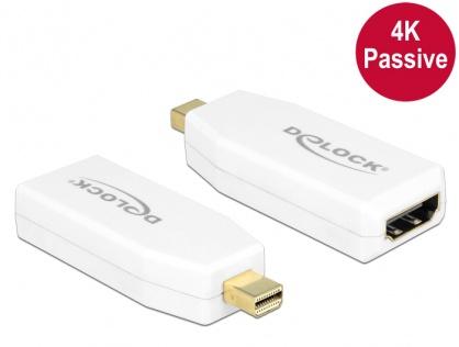 Adaptor mini Displayport 1.2 la HDMI T-M 4K pasiv alb, Delock 65584