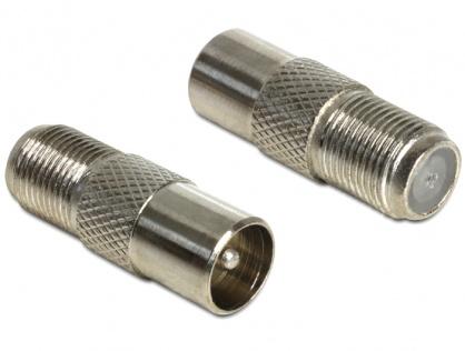 Adaptor F jack la IEC plug, Delock 65610