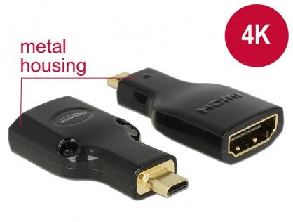 Adaptor HDMI la micro-D HDMI M-T metalic 4K, Delock 65664