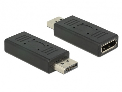 Adaptor Displayport 1.2 T-M port saver negru, Delock 65691