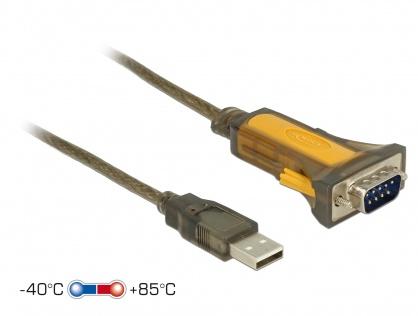 Adaptor USB la Serial RS-232 DB9 extended temperature range, Delock 65840
