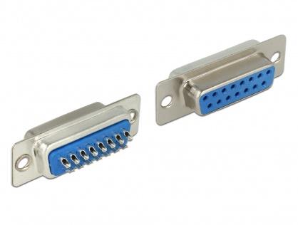 Conector D-SUB 15 pini mama, Delock 65880