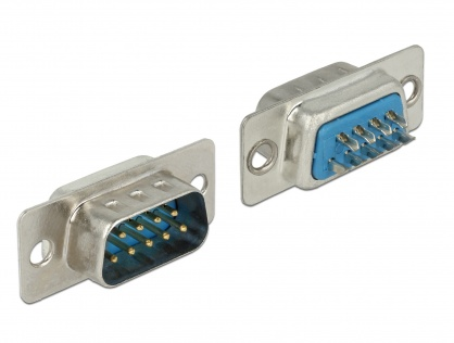Conector de lipit serial D-SUB 9 pini tata, Delock 65881