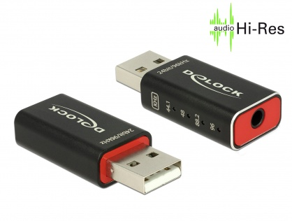 Placa de sunet USB 2.0 High-Res DAC Audio 24 bit / 96 kHz, Delock 65899