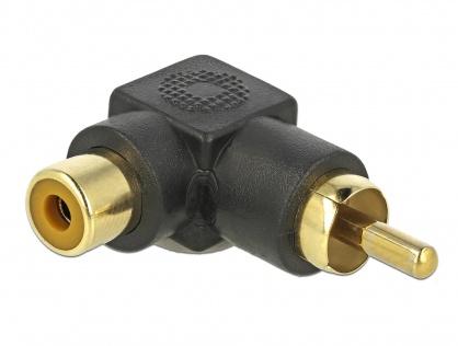 Adaptor RCA T-M unghi 90 grade, Delock 66168