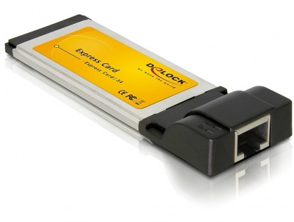 Express card cu 1 port Gigabit LAN, Delock 66216