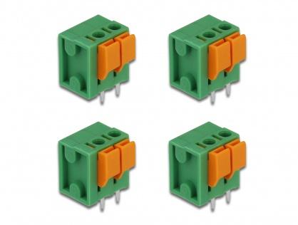 Set 4 buc bloc terminal pentru PCB 2 pini 5.08 mm pitch vertical, Delock 66269