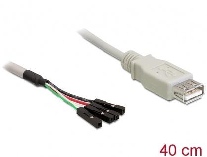 Cablu USB 2.0-A female la pin header, Delock 82433