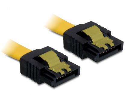 Cablu SATA II 3 Gb/s drept cu fixare 0.5m, Delock 82477