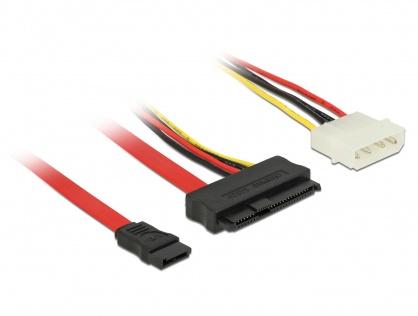 Cablu SAS SFF-8482 la SATA si alimentare Molex 50cm, Delock 82634