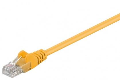 Cablu retea UTP cat 5e 0.25m Galben, SPUTP002Y