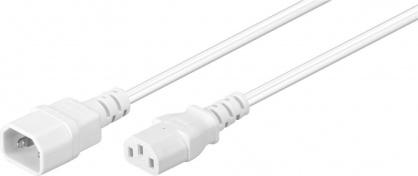 Cablu de alimentare C13 la C14 Alb 3m, Goobay 97585