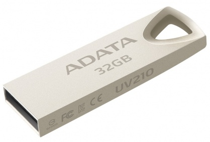 Stick USB 2.0 32GB aliaj zinc, rezistent la apa/praf/socuri Gold Crom, ADATA