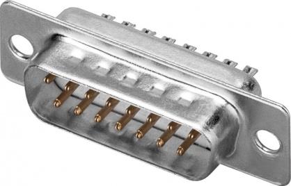 Conector de lipit D-SUB 15 pini tata