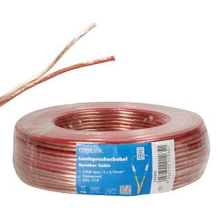 Cablu pentru boxe/difuzor 2x 0.75 mm 25m, Logilink CA1076