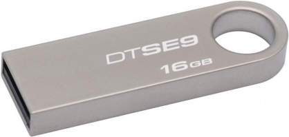 Stick USB 2.0 DataTraveler SE9 16GB Capless Argintiu, Kingston