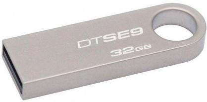 Stick USB 2.0 DataTraveler SE9 32GB Capless Argintiu, Kingston
