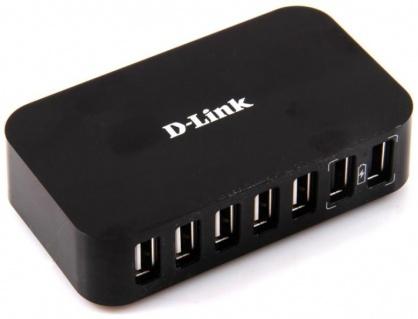 HUB USB cu 7 x USB 2.0, alimentare priza, D-LINK DUB-H7