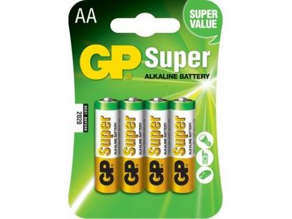 Blister 4 baterii AA LR6 Alkaline, GP BATTERIES