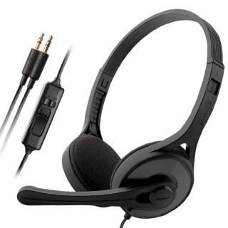 Casti EDIFIER Stereo, microfon pe casca, control volum pe fir, black, K550