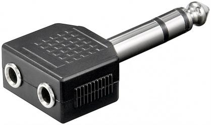 Adaptor stereo jack 6.3mm la 2 x stereo jack 3.5mm T-M
