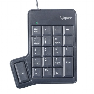 Tastatura numerica pe USB + tasta TAB, Gembird KPD-UT-01
