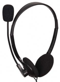 Casti stereo cu microfon Negru, Gembird MHS-123