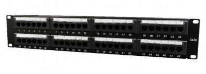 Patch panel RJ45 cat. 6 48 porturi, Gembird NPP-C648CM-001