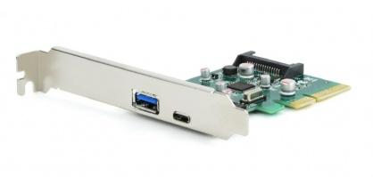 PCI Express cu 1 x USB 3.1-A + 1 x USB 3.1-C, Gembird PEX-U31-01