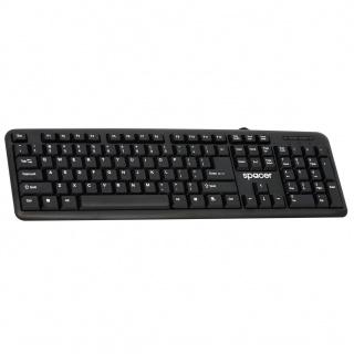 Tastatura USB 104 taste Negru, Spacer SPKB-520