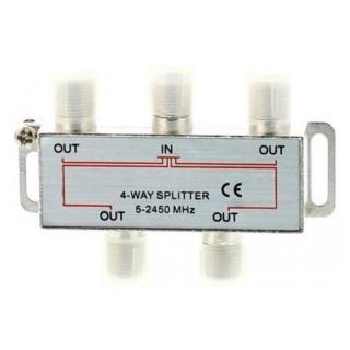 Splitter CATV coaxial (antena tv) 4 porturi 1000 MHz, SPLT-FC/4-WL