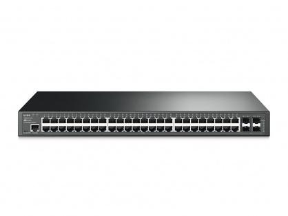 Switch L2 cu management full 48 Porturi 10/100/1000M, 4 sloturi SFP Gigabit, TP-LINK TL-SG3452