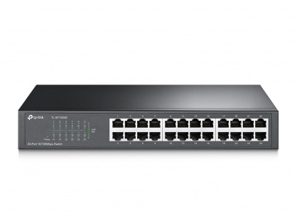 "Switch 24 porturi, carcasa metalica, rack 13"", TP-Link TL-SF1024D"