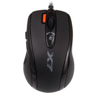 Mouse optic Gaming USB X7 Oscar Black, A4tech X-718BK