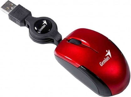 Mouse notebook Micro Traveler v2 USB Ruby, Genius