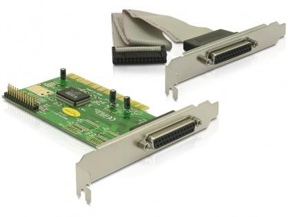 Placa PCI la 2 porturi paralel DB25, Delock 89016