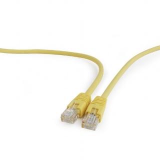 Cablu retea UTP cat 5E 1.5m galben, Gembird PP12-1.5M/Y