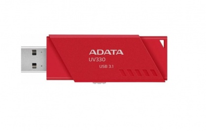 Stick USB 3.0 retractabil UV330 16GB Rosu, ADATA AUV330-16G-RRD