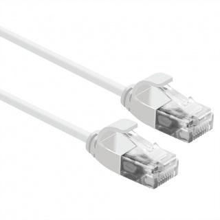 Cablu de retea Slim cat 6A UTP LSOH 2m Alb, Roline 21.15.0982