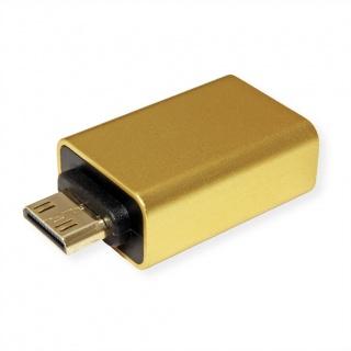 Adaptor mini HDMI-C la HDMI-A GOLD 4K@60Hz, Roline 12.03.3154
