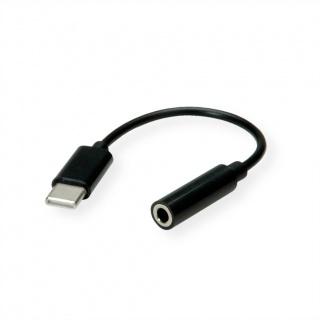 Adaptor audio USB-C la jack stereo 3.5mm T-M 13cm, Value 12.99.3214