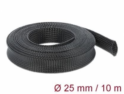Plasa pentru organizarea cablurilor 10 m x 25 mm Negru, Delock 18904