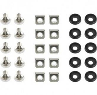 Set 10 buc suruburi M6 pentru montare rack, Gembird 19A-FSET-01