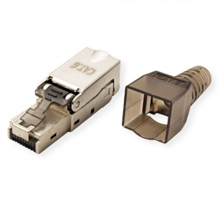 Conector de retea RJ45 cat 6 STP pentru fir solid AWG 23-26, Value 26.99.0371