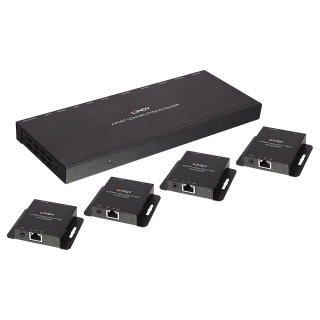 Splitter Extender 50m Cat.6 4 Port HDMI & IR with Loop Out, Lindy L38155